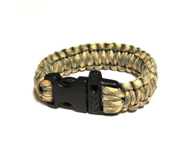 Survival Bracelet w/Whistle - Light Grn