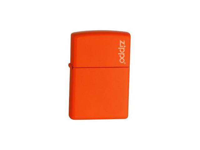 Orange Matte, Zippo Logo