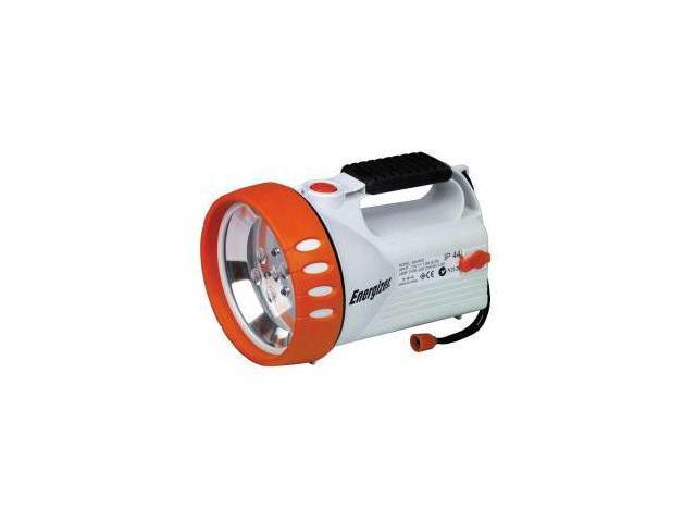 Solar Spot Light, White/Orange Body, Solar or Battery Pack