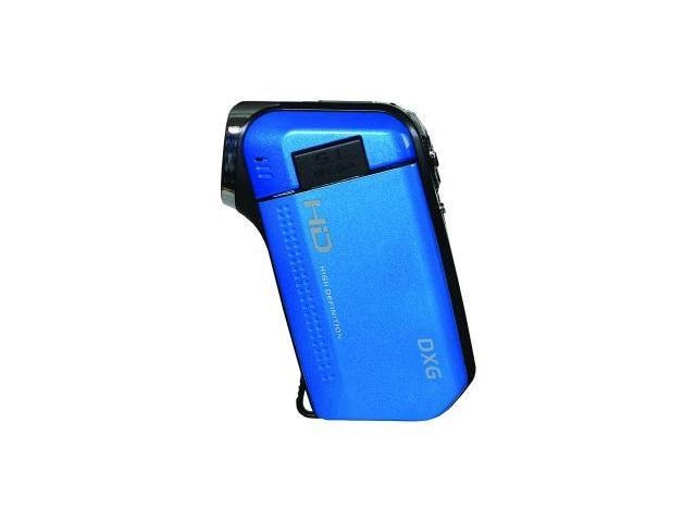 DXG USA DXG-5B6VB HD 5.0 Megapixel 720p HD QuickShots™ DXG-5B6V  Mini Digital Video Camera (Ocean Blue)
