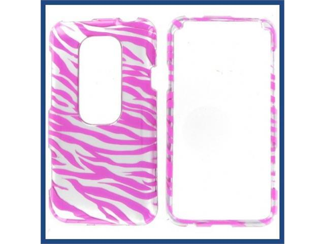 HTC Evo 3D 2D Silver Pink Zebra Protective Case