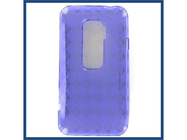 HTC Evo 3D Crystal Purple Skin Case