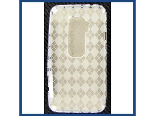 HTC Evo 3D Crystal Clear White Skin Case