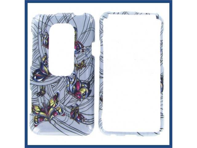 HTC Evo 3D Colorful Butterfly Protective Case