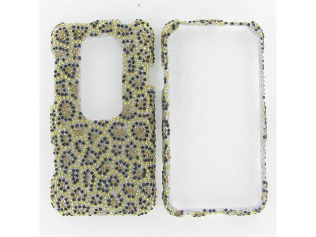 HTC Evo 3D Full Diamond Leopard Protective Case