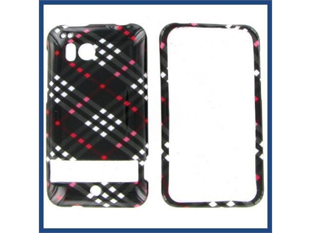 HTC Thunderbolt Black Check Protective Case
