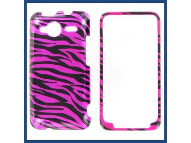 HTC Evo Shift 4G Zebra on Hot Pink (Hot Pink/Black) Protective Case
