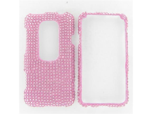 HTC Evo 3D Full Diamond Pink Protective Case