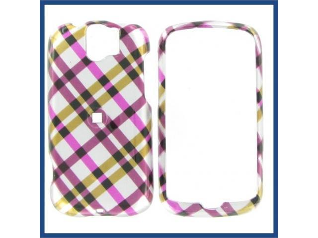 HTC MyTouch Slide Hot Pink Plaid Protective Case