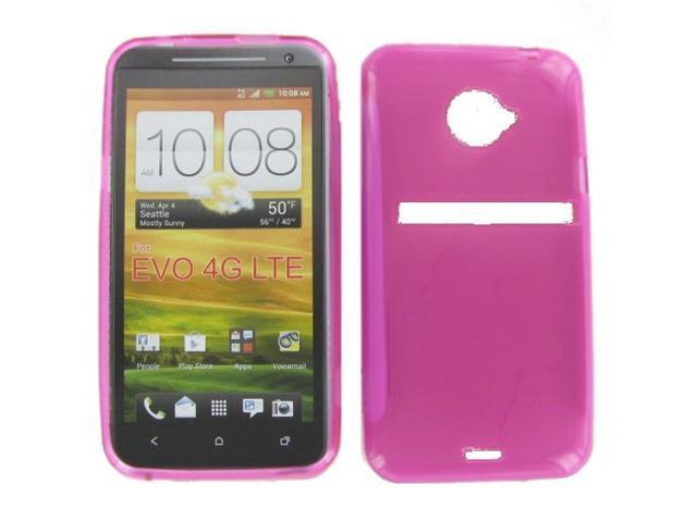 HTC EVO 4G LTE Crystal Hot Pink Skin Case
