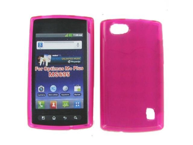 LG MS695 (Optimus Elite/ OptimusM+) Crystal Hot Pink Skin Case