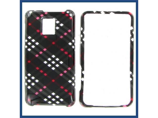 LG G2X (Optimus 2X) Black Check Protective Case