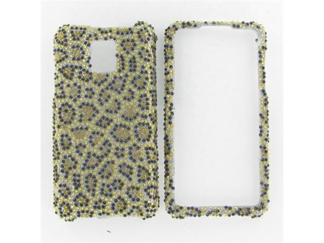 LG G2X (Optimus 2X) Full Diamond Leopard Protective Case