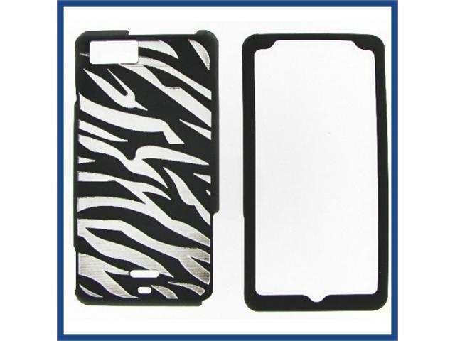 Motorola MB810 (DROID X) / MB870 (DROID X2) illusion Zebra (Black) Protective Case