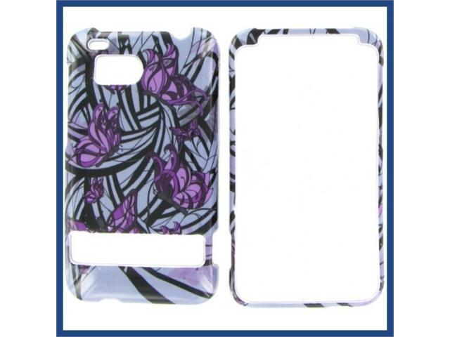 HTC Thunderbolt Purple Butterfly Protective Case