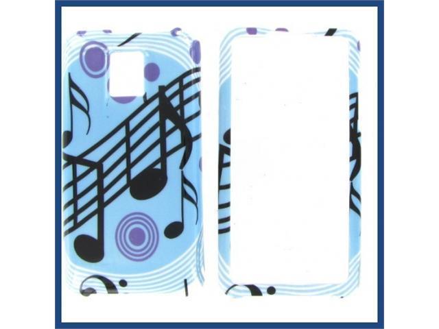 LG G2X (Optimus 2X) Blue Music Protective Case