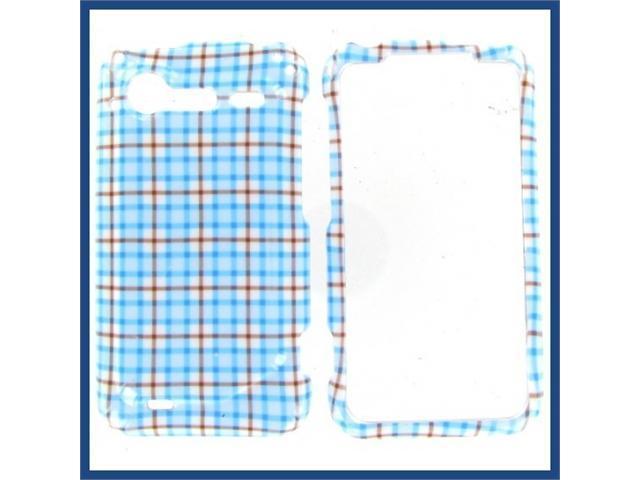HTC Incredible S / Incredible 2 Blue Check Protective Case