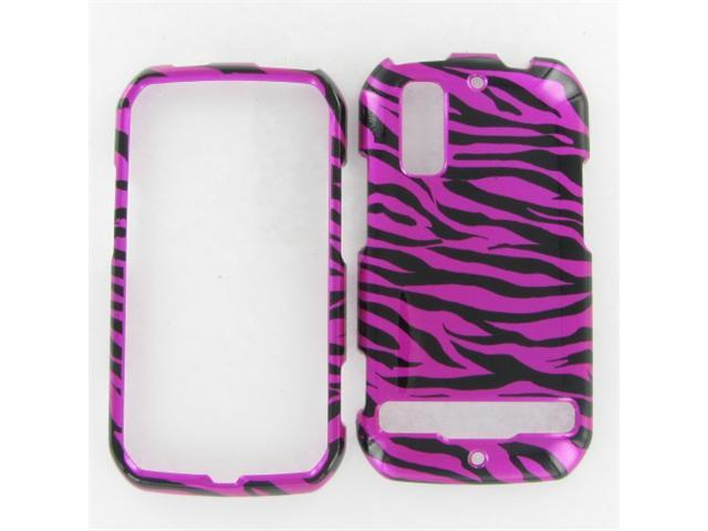 Motorola MB855 (Photon 4G) Zebra on Hot Pink (Hot Pink/Black) Protective Case