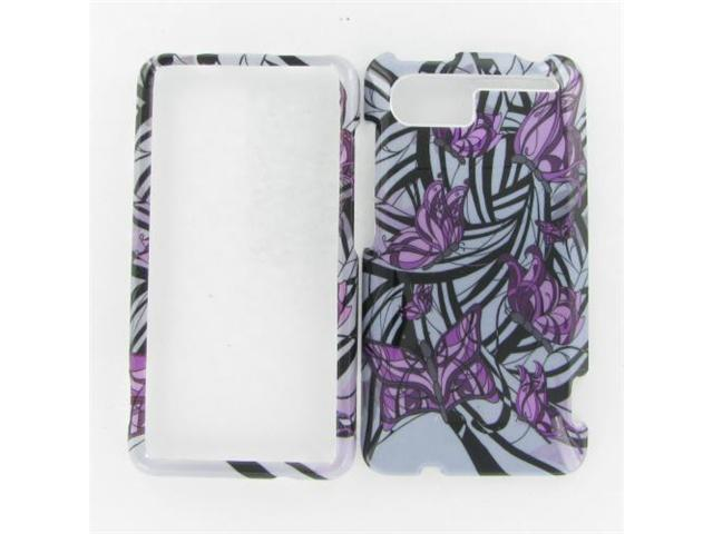 HTC Vivid Purple Butterfly Protective Case