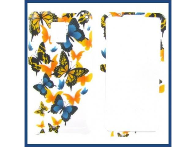 LG G2X (Optimus 2X) Yellow butterfly Protective Case