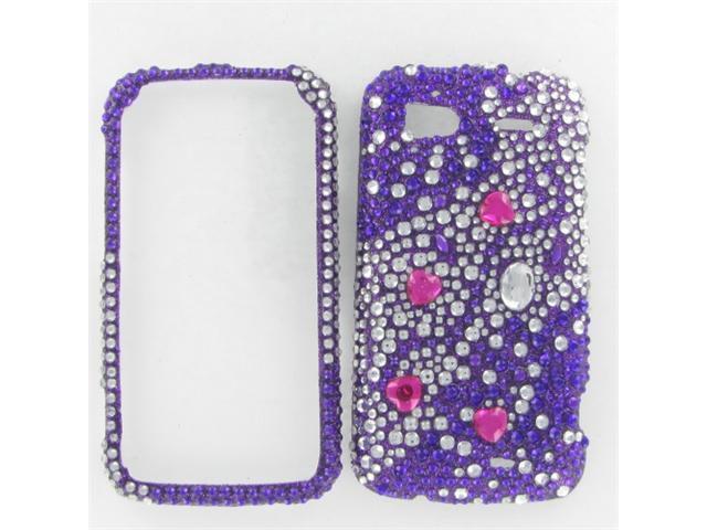 HTC Pyramid / Sensation 4G Full Diamond Purple Galaxies Protective Case