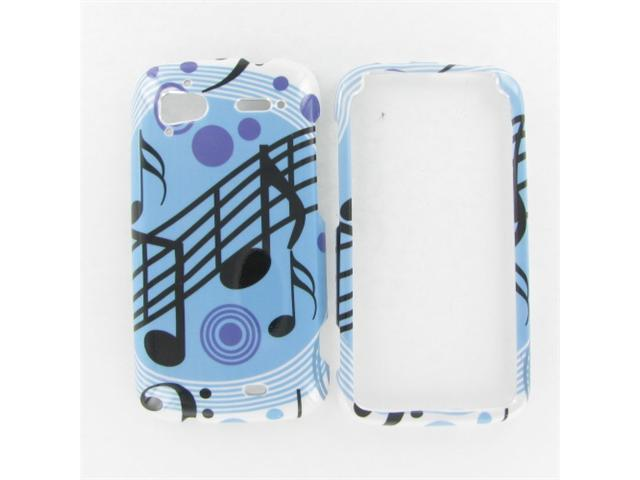 HTC Pyramid / Sensation 4G Blue Music Protective Case