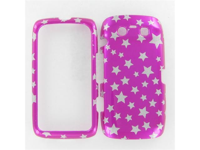 Blackberry 9850/9860 (TORCH) Star on Hot Pink Protective Case