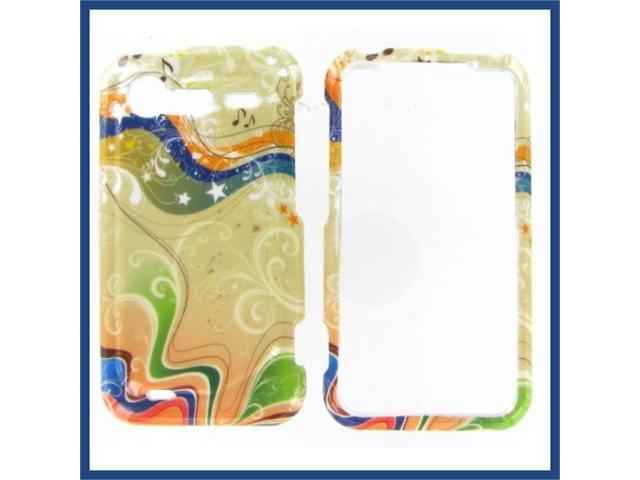 HTC Incredible S / Incredible 2 Yellow Milky Way Protective Case