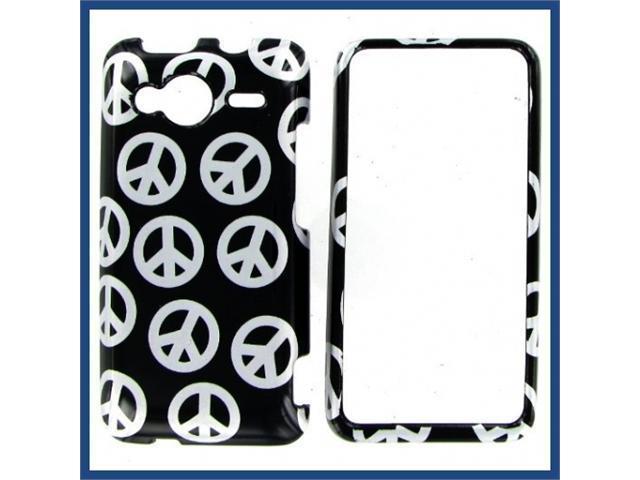 HTC Evo Shift 4G Black Silver Peace Protective Case