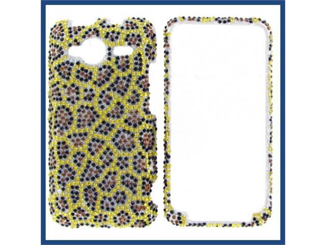 HTC Evo Shift 4G Full Diamond Leopard Protective Case