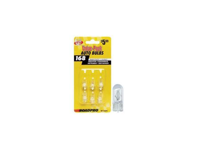 Heavy Duty Automotive Replacement Bulbs - #168  Clear  6-Pack Value Pack