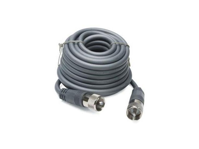18' CB Antenna Mini-8 Coax Cable with PL-259 Connectors - Gray