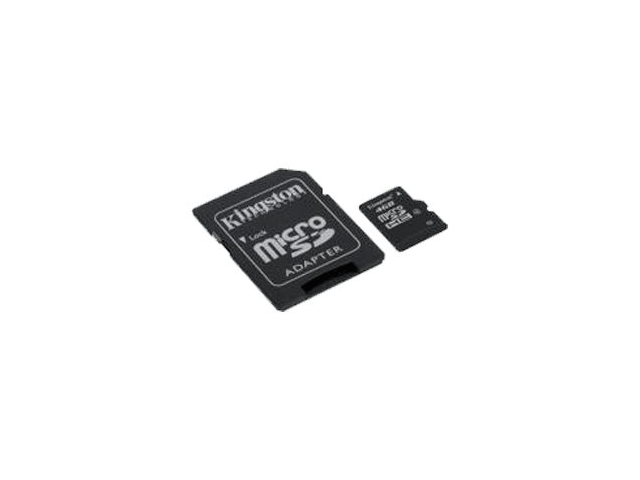 Kingston 4 GB microSDHC with SD Adapter