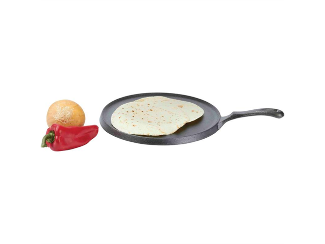 "Country Morning 10-1/4 "" Cast Iron Tortilla Pan"