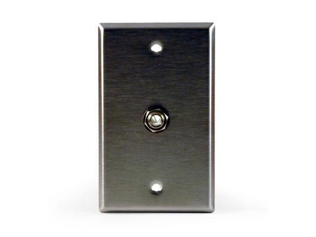 Stainless Steel 1/4 Wall Plate Single Gang W/One Stereo Jack