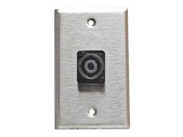 Stainless Steel Speakon Wall Plate Neutrik Single Gang 4-Pin