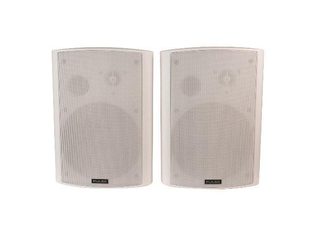 """40W Active Two-Way Speaker Pair with 5"""" Woofers - White"""