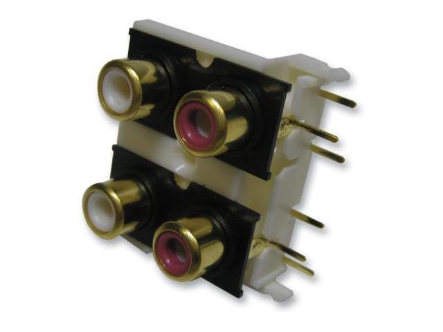 RCA Sockets X4 Gold/Pcb