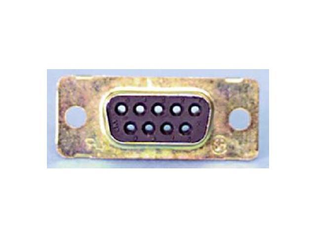 9 Pin D Sub Receptacle - Zinc Plated Finish