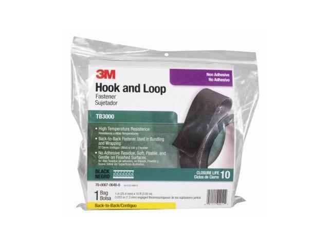 TB3000 Self-mating Hook and Loop Fasteners - Black