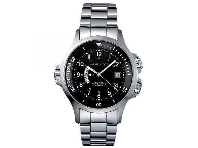 Hamilton Khaki Navy GMT Steel Black Mens Watch H77615133