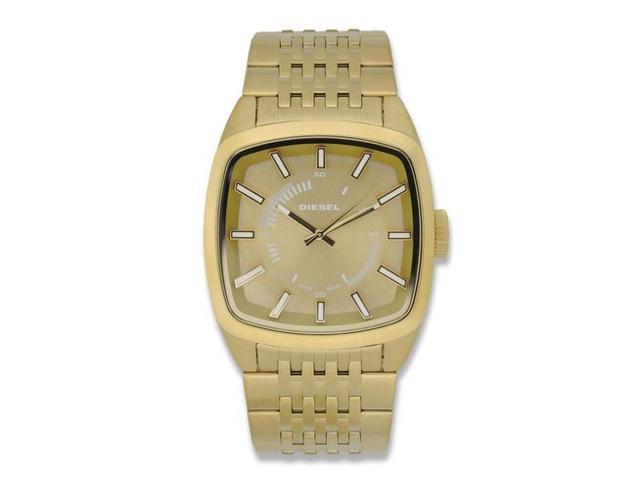 Diesel Men's DZ1585 Scalped Gold Watch Steel Bracelet and Case Mineral