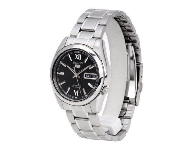 Seiko 5 #SNKL55 Men's Stainless Steel Black Dial Self Winding Automatic Watch