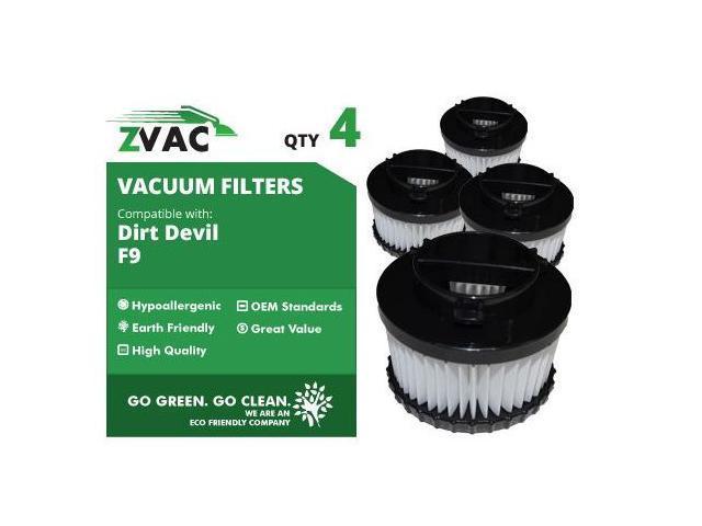 ZVac Dirt Devil F9 HEPA Filter 3-DJ0360-000 4 Pack UPC 608939746817