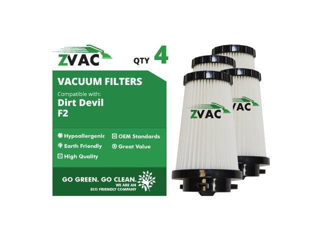 ZVac Dirt Devil 4 Pack F2 Filters 3SFA11500X UPC 608939746787