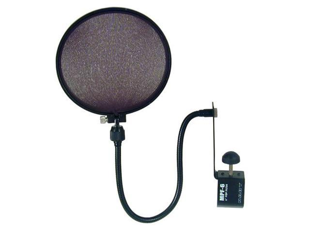 Nady MPF6 Pro Mic Pop Filter W/Boom - Stand Clamp - New