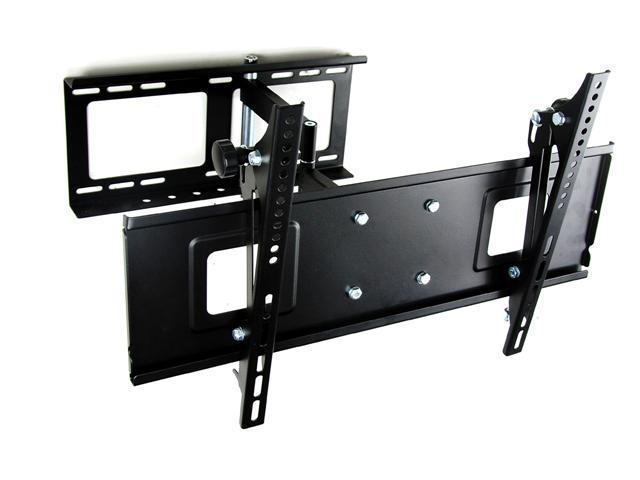 Homemounts HM005A Low Profile Steel Solid Articulating 32''-50'' LCD LED PDP TV Wall Mount Bracket - Black