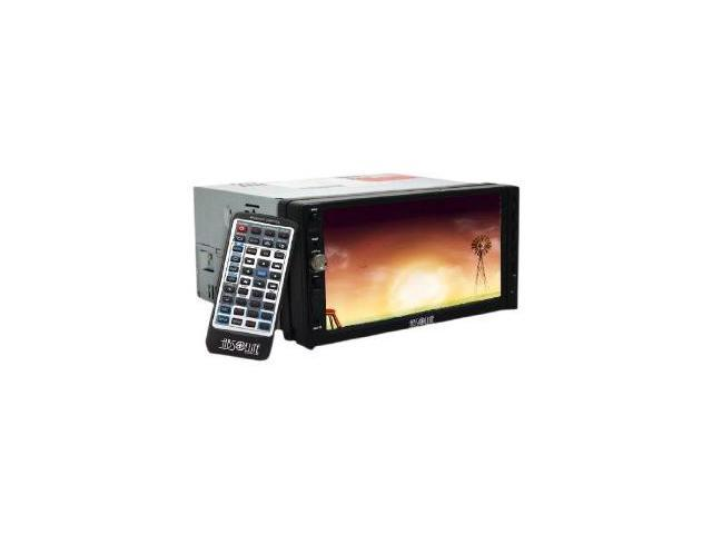 Absolute DD-3000ABT 7-Inch Double Din Multimedia DVD Player Receiver with Touch Screen System Display and Detachable Front ...