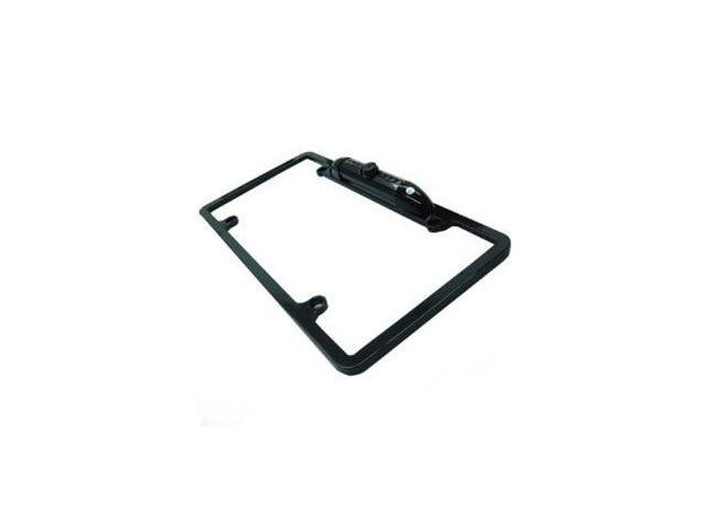 Absolute CAM2000CCDB Black Universal License Plate Frame with Built-in CCD Waterproof Camera with IR
