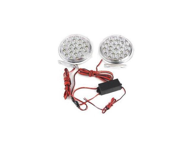 Absolute DRL21CW Round Shape 21 LED Spotlight Daytime Running Lights Kits